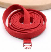 10mm wide faux suede flat cord
