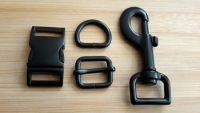 20mm MATT BLACK buckle set (4-piece)