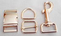 20mm buckle gold sets (buckle+slider+d-ring+snaphook)