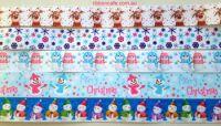 Cute Xmas Christmas ribbon pack (1m of ea pattern)